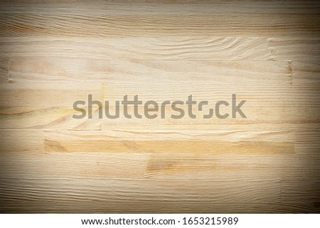 clean wooden surface. Fresh clean wooden image for background. vignetting