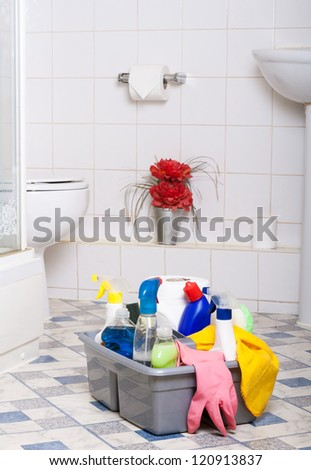 Cleaning Bathroom Kitchen cleaner washing room wipe tiles