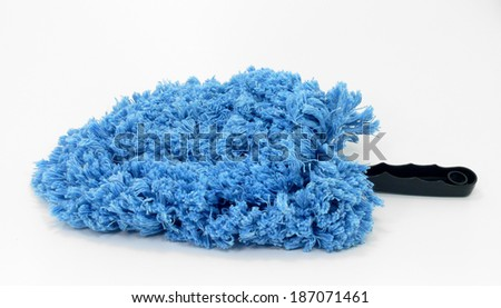 cleaning cloth,  cleaning utensil on white background Stock foto ©