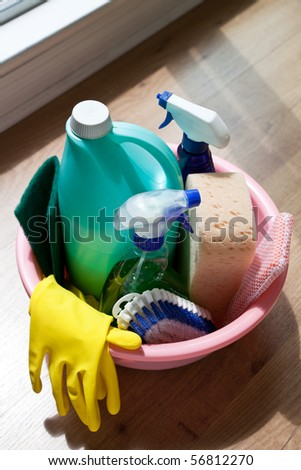 Cleaning Equipment close up shot - stock photo