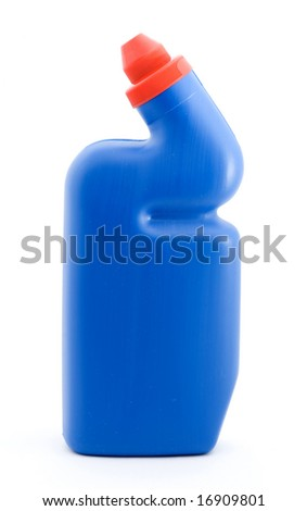 cleaning products studio isolated over white