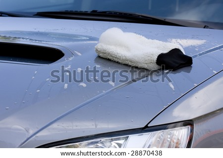 Cleaning the Car - washing process