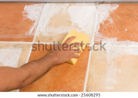 Cleaning the newly installed floor