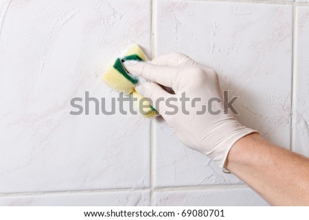Cleaning wall.