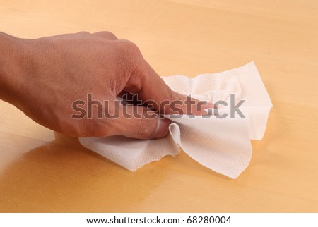 Cleaning with Disinfectant Wipes