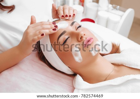 Cleansing peeling at the beauty salon. #782574469