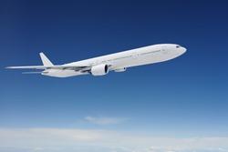 Clear airpcraft in blue sky