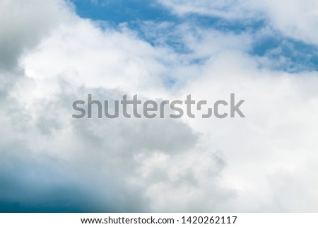 clear and clear sky and clouds