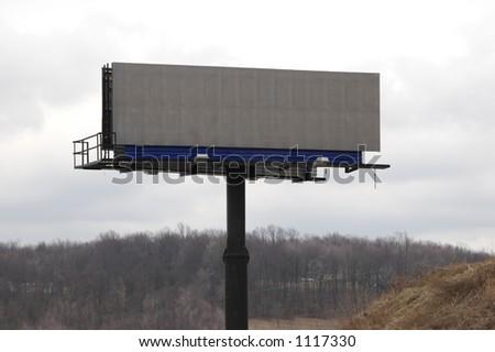 Clear Blank Billboard Sign