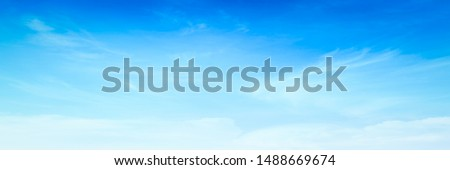 Clear blue sky and white clouds background #1488669674