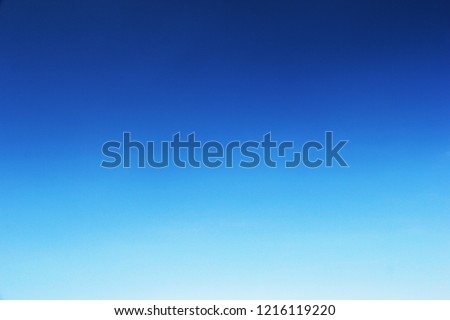 Clear blue sky background and empty space for your design, no cloud. #1216119220