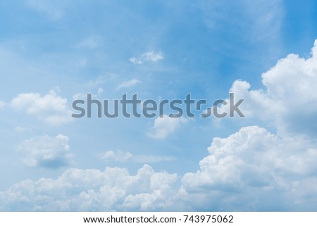 clear blue sky background,clouds with background. - Shutterstock ID 743975062
