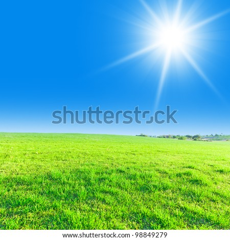 Stock Photo Clear Blue Sky Bright Sunshine