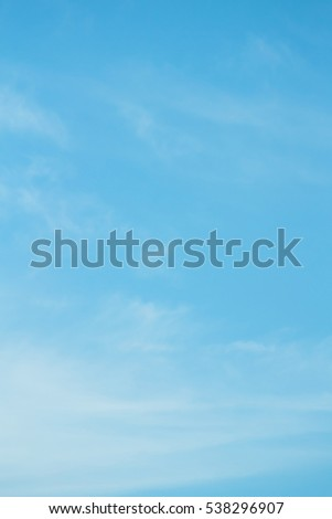 clear blue sky with plain white cloud with space for text #538296907