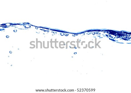 Clear Blue Water Waves and Bubbles