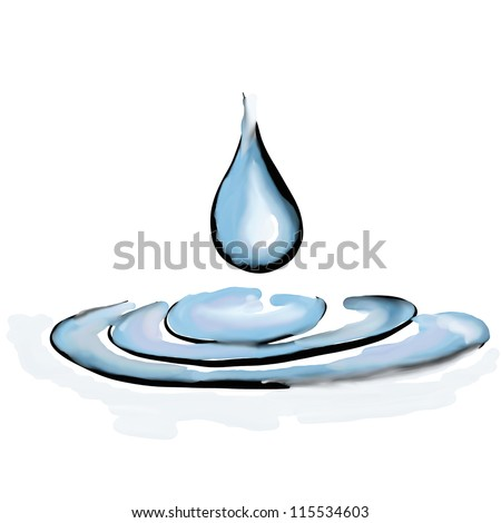 Clear Drop Ripples Water Isolated On White Stock Photo 115534603 ...