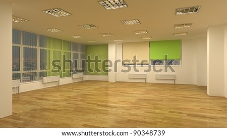 clear empty room - stock photo