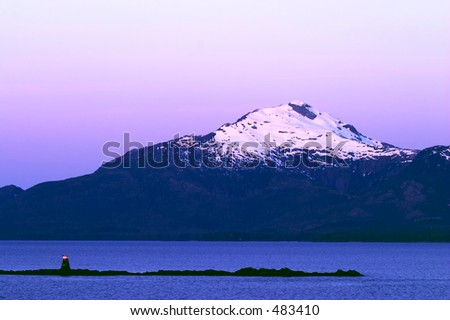 Clear evening cruising the Inside Passage, Alaska.
