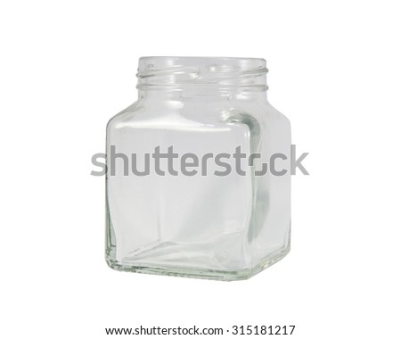 Free photos Clear glass Bottles square with Silver open lid