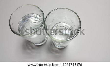 Clear glass water cup #1291716676
