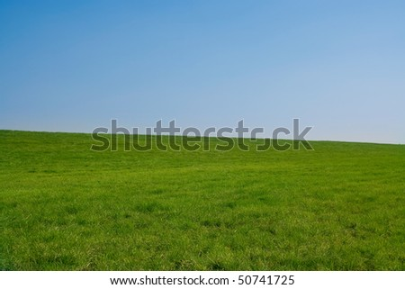 Clear grass hill, minimum processing. Simple, clean, for use in composites