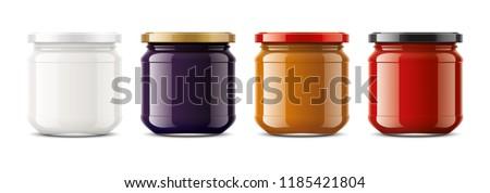 Clear Honey Jar mockup. Big size. 3d rendering