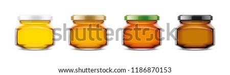Clear Honey Jar mockup. Extra small size. 3d rendering