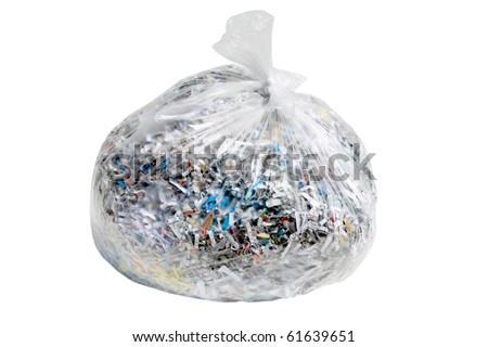 Clear Bank Bags Clear Plastic Trash Bag Filled
