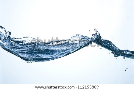 clear pure water wave with splash