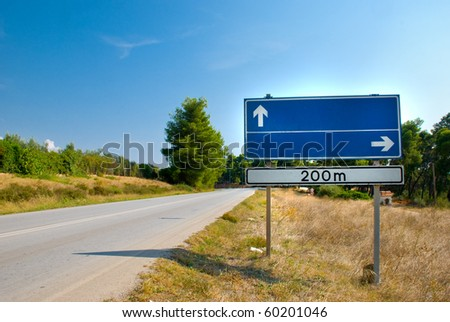 Clear road sign