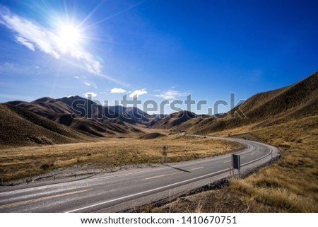 clear road with a clear sky