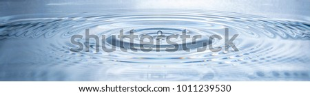 Clear round water drops- splashing water droplets panorama