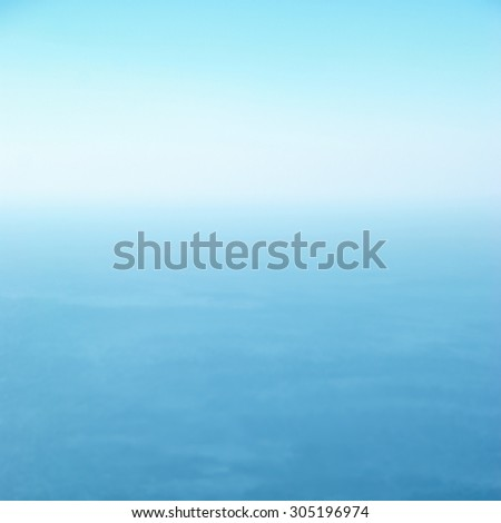 Clear sea and blue sky can be used for background