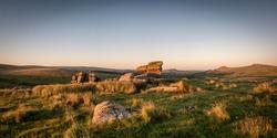 Clear skies over Black Tor on Dartmoor