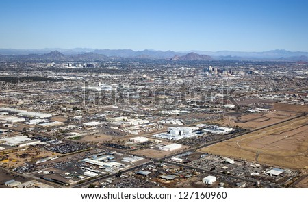 Clear Skies over Phoenix, Arizona and the Valley of the Sun