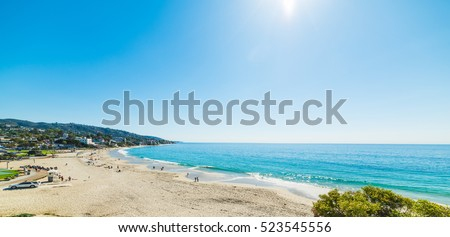 Clear sky over Laguna beach, California #523545556
