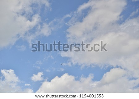 Clear Sky with Puffy Clouds #1154001553