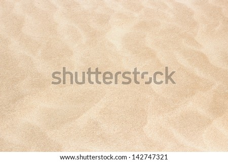 Clear Texture Of Beige Ripple Sand