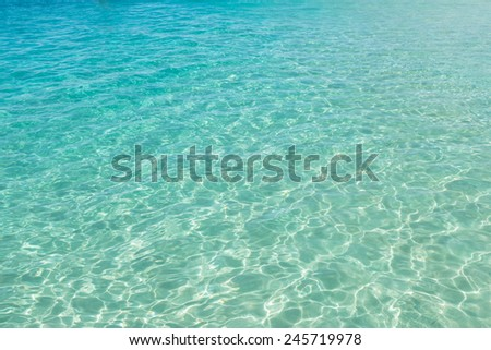 Clear turquoise water in Santa Maria beach in Sal Cape Verde