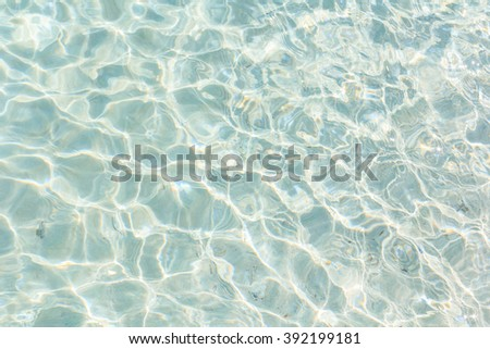 Clear water background.
