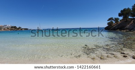 Clear water,clear skyes. Lovely mallorca beach.