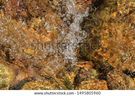 Clear water flowing in a stream #1495805960