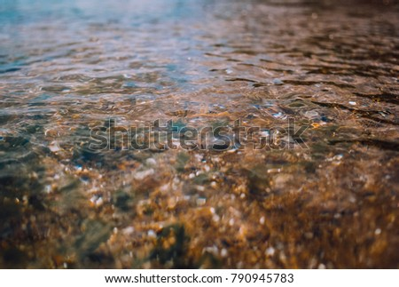 Clear water on the coast #790945783
