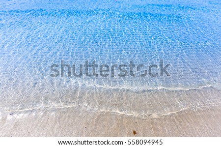 Clear water sea and beach and deep blue sea relax on holiday or vacation