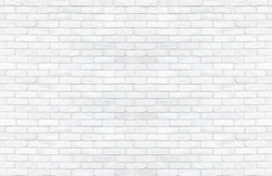Clear white brick wall texture