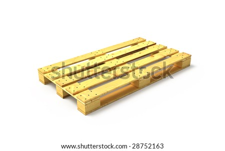 Clear wooden pallet