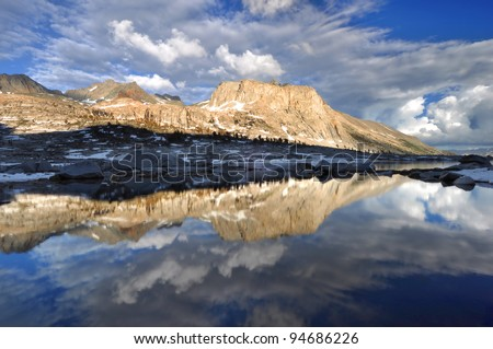 Clearing Storm Reflection Sequoia National Park, California - stock photo