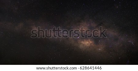 Cleary milky way on night sky.