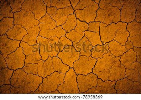 Clefts on soil - abstract natural background
