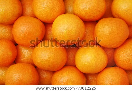 clementines - a variety of mandarin orange - stock photo